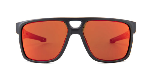 Oakley Crossrange Path Black / Red Lens Mirror Sunglasses