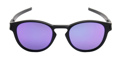 Oakley Latch Black / Purple Lens Mirror Sunglasses