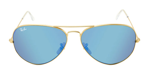 Ray Ban - Aviator Gold/Blue Mirror Unisex Sunglasses - 62mm