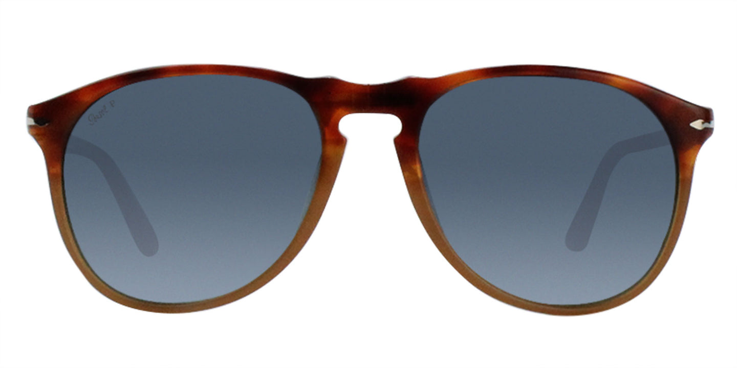 Persol - PO9649 Tortoise Oval Unisex Polarized Sunglasses - 55mm