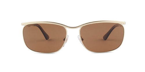 Persol PO2458S Gold / Brown Lens Solid Polarized Sunglasses