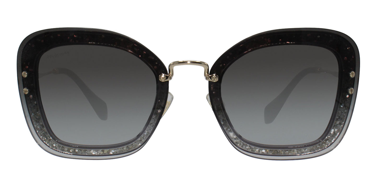 Miu Miu - MU02TS Gray Rectangular Women Sunglasses - 65mm