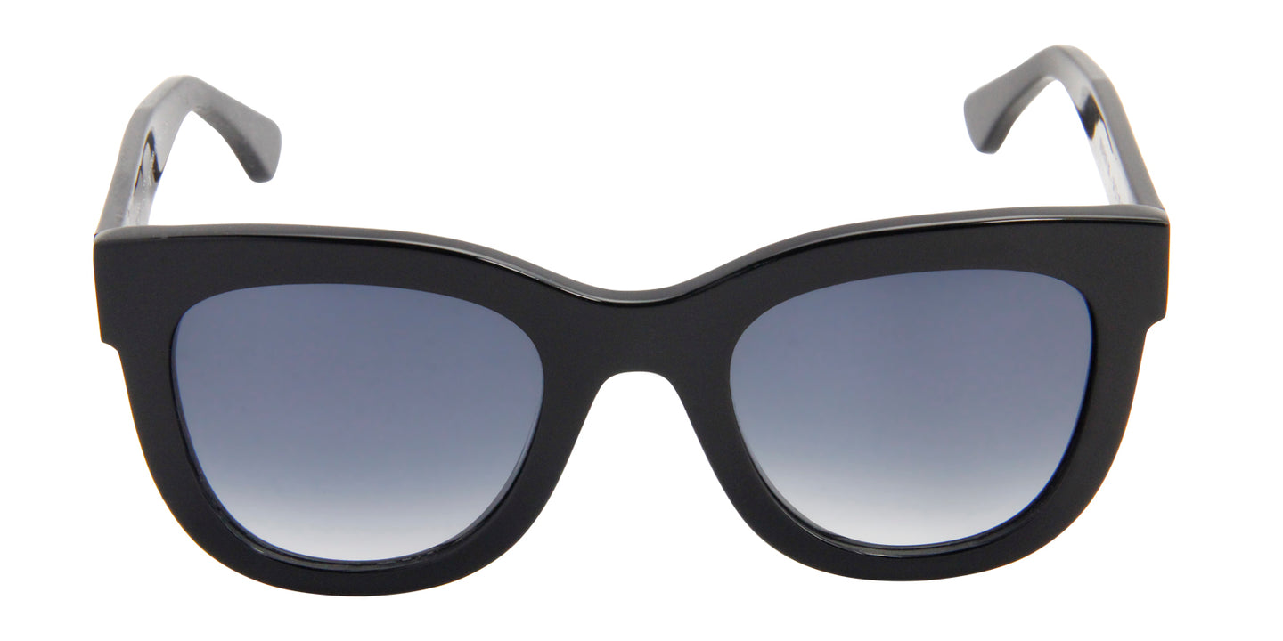 Thierry Lasry - Obsessy Black Oval Women Sunglasses - 51mm