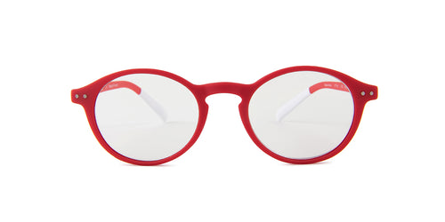Pantone - N Two Red Oval Unisex Eyeglasses - 49mm