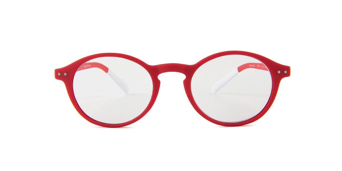 Pantone - N Two +1.50 Red/Clear Oval Unisex Readers - 49mm