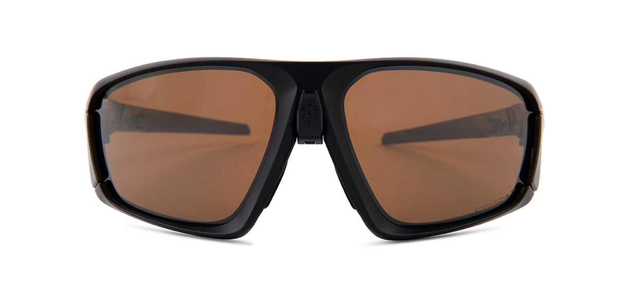 Oakley Field Jacket Black / Brown Lens Mirror Polarized Sunglasses