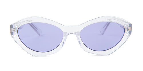 Quay Australia As If! Clear / Purple Lens Sunglasses