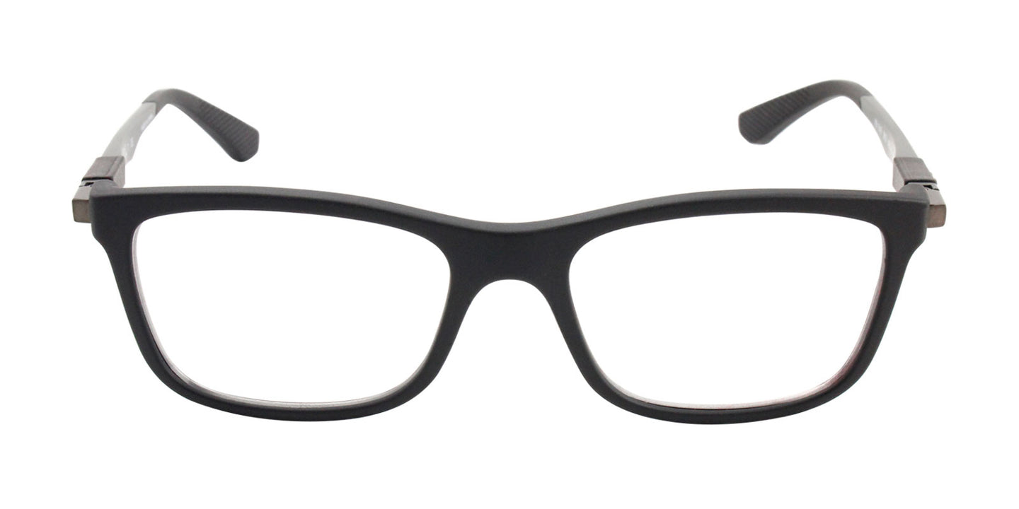 Ray Ban Rx - RX1549 Black Rectangular Unisex Eyeglasses - 48mm