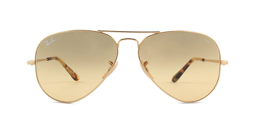 Ray Ban - RB3689 Gold/Orange Gradient Aviator Unisex Sunglasses - 58mm