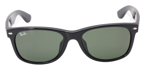Ray Ban - New Wayfarer Black/Green Unisex Sunglasses - 55mm