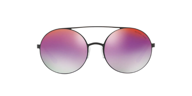 Michael Kors Coba Black / Purple Lens Mirror Sunglasses