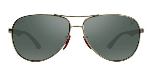 Ray Ban - RB8313M Gold Aviator Unisex Sunglasses - 61mm