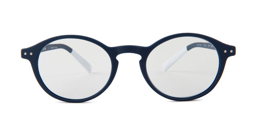 Pantone - N Two Blue Oval Unisex Eyeglasses - 49mm