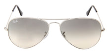 Ray Ban - Aviator Silver Aviator Unisex Sunglasses - 58mm
