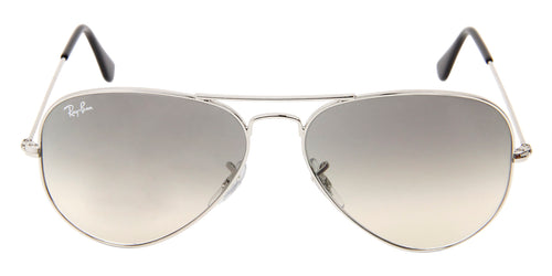 Ray Ban - Aviator Gradient Silver/Gray Gradient Unisex Sunglasses - 58mm