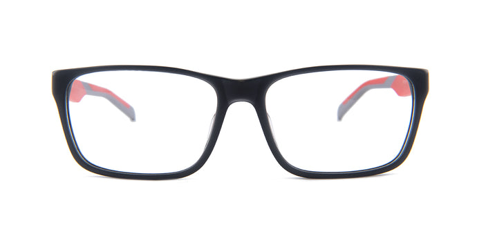 Tagheuer - TH0552 Gray Red Rectangular Men Eyeglasses - 57mm