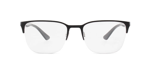 Ray Ban Rx - RX6428 Black Square Unisex Eyeglasses - 54mm