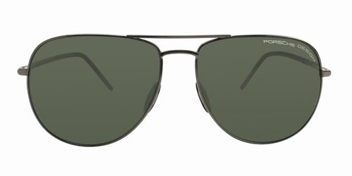 Porsche Design P8629 Gunmetal / Green Lens Polarized Sunglasses
