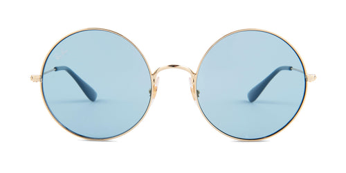 Ray Ban - RB3592 Gold/Blue Round Unisex Sunglasses - 55mm