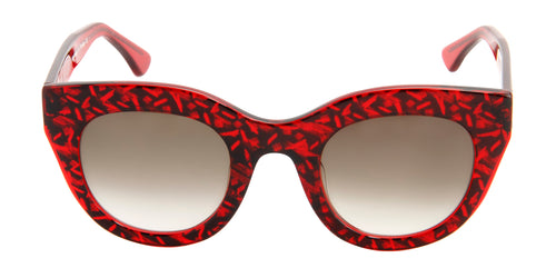 Thierry Lasry - Deeply Red Oval Women Sunglasses - 48mm