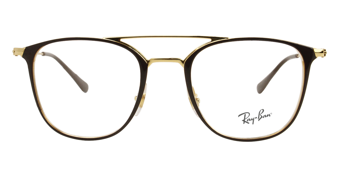Ray Ban Rx - RX6377 Brown Rectangular Women Eyeglasses - 50mm