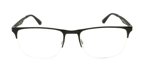 Ray Ban Rx - RX6362 Black Semi-Rimless Unisex Eyeglasses - 55mm