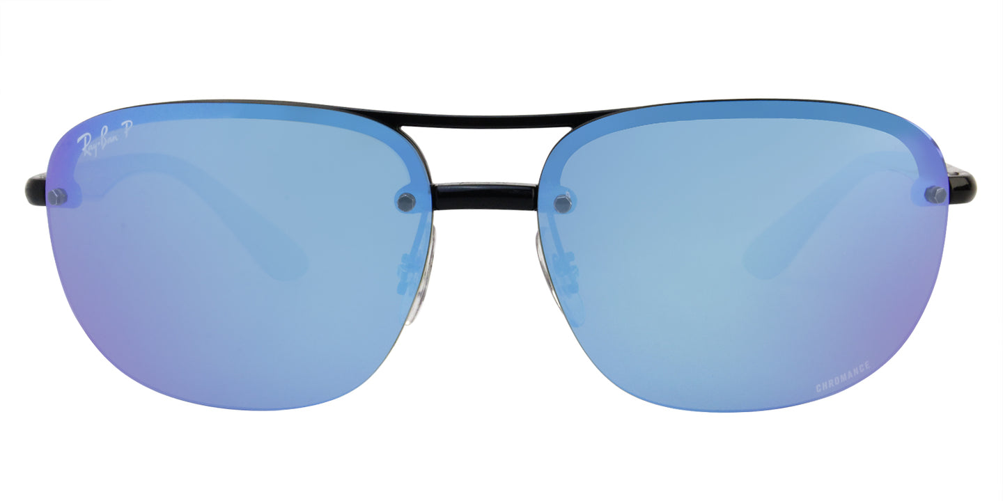 Ray Ban - RB4275-CH Black/Blue Mirror Polarized Oval Unisex Sunglasses - 63mm