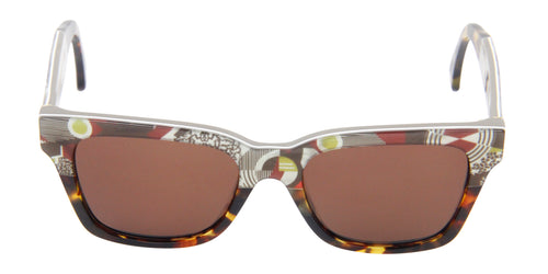 Retrosuperfuture America White/Tortoise / Brown Lens Sunglasses