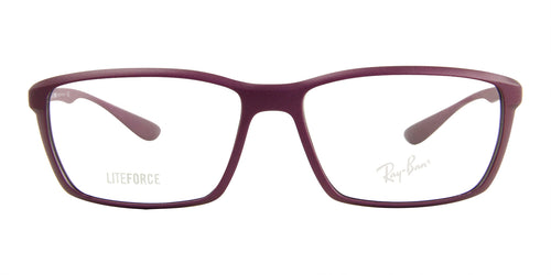 Ray Ban Rx - RX7018 Purple Rectangular Unisex Eyeglasses - 56mm