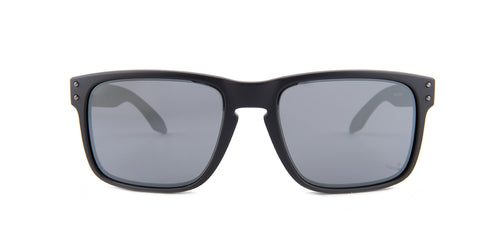Oakley - Holbrook Black/Black Square Unisex Sunglasses - 57mm