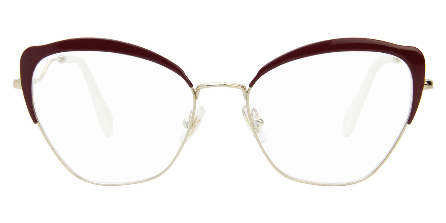Miu Miu - MU54PV Gold/Clear Butterfly Women Eyeglasses - 54mm