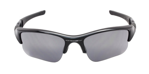 Oakley Flak Jacket XLJ Black / Gray Lens Mirror Sunglasses