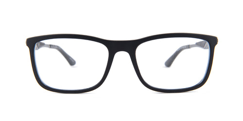Ray Ban Rx - RB7029 Black Square Unisex Eyeglasses - 55mm