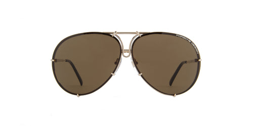 Porsche Design - P8478 Gold Aviator Men Sunglasses - 135mm