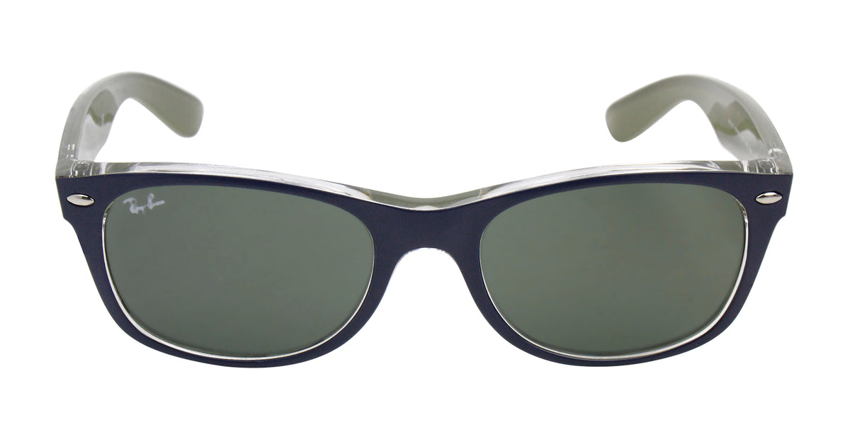 Ray Ban - New Wayfarer Blue/Green Women Sunglasses - 52mm