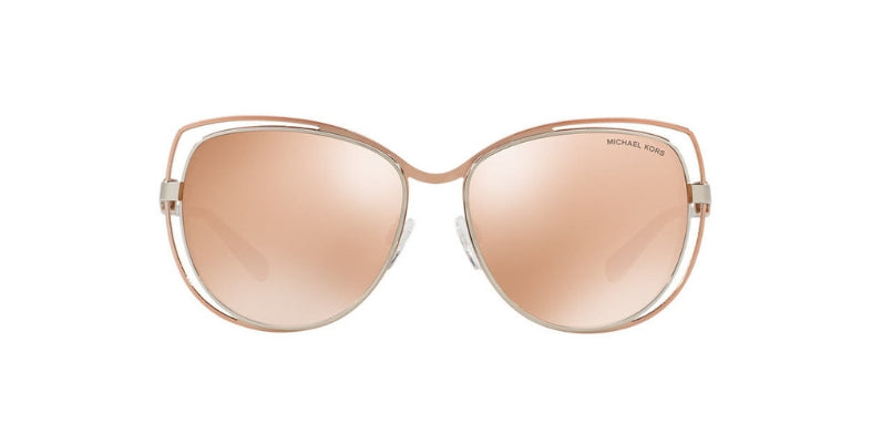 Michael Kors Audrina I Rose Gold / Pink Lens Mirror Sunglasses
