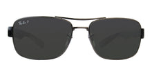 Ray Ban - RB3522 Gray/Green Polarized Rectangular Men Sunglasses - 61mm