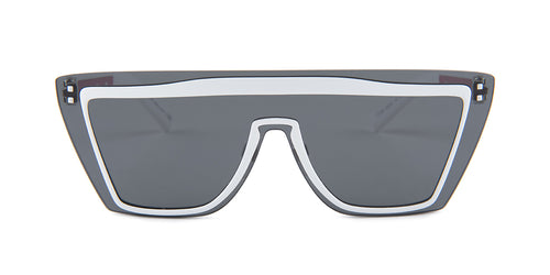 Valentino VA2026 White / Gray Lens Sunglasses