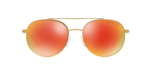 Michael Kors Lon Gold / Red Lens Mirror Sunglasses