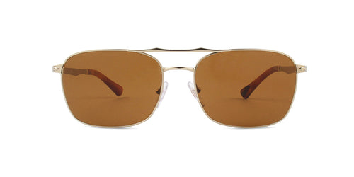 Persol - PO2454-S Gold Rectangular Unisex Sunglasses - 60mm