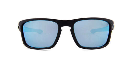 Oakley - Silver Stealth Black/Blue Square Unisex Sunglasses - 56mm