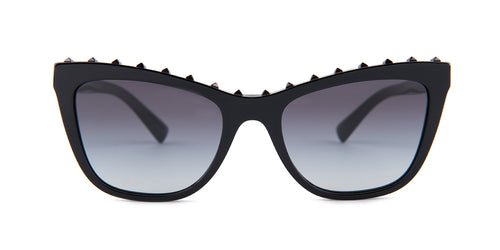 Valentino VA 4022 Black / Dark Gray Lens Sunglasses