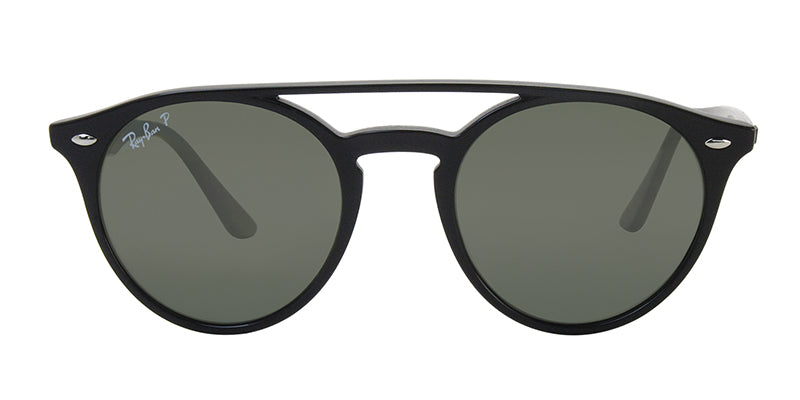 Ray Ban - RB4279 Black/Green Mirror Polarized Oval Unisex Sunglasses - 51mm