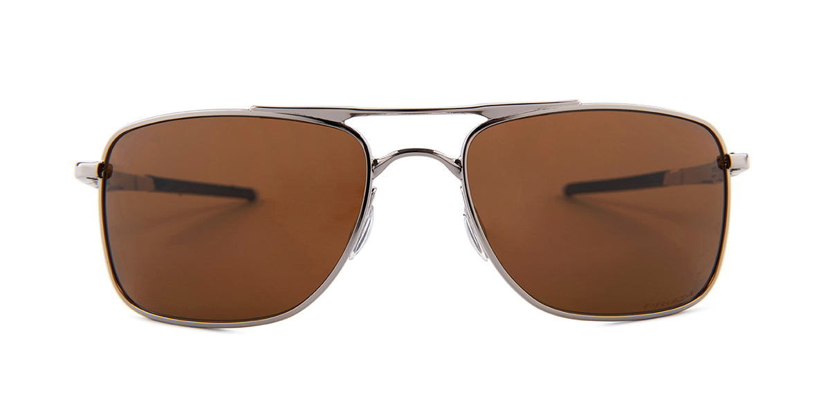 Oakley Gauge 8 Silver / Brown Lens Mirror Polarized Sunglasses