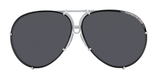 Porsche Design P8478 White / Black Lens Sunglasses