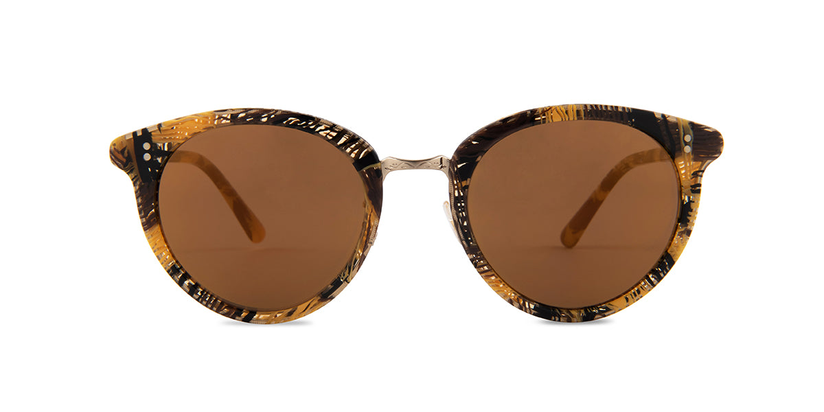 Oliver Peoples Spelman Yellow / Gold Lens Mirror Sunglasses