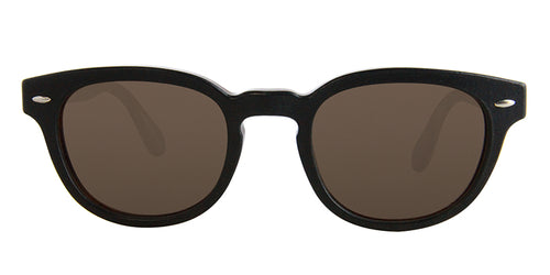 Oliver Peoples Sheldrake Leather Black Brown / Brown Lens Sunglasses
