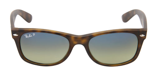 Ray Ban - New Wayfarer Tortoise/Blue Green Gradient Polarized Wayfarer Unisex Sunglasses - 52mm