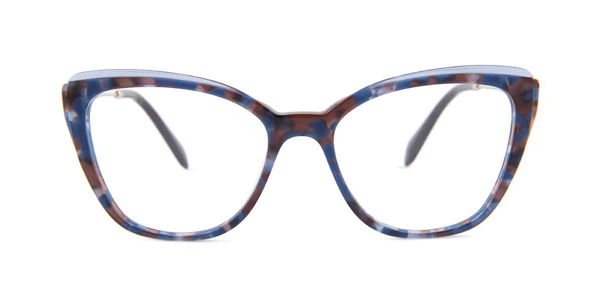 Miu Miu - MU02QV Blue/Clear Cat Eye Women Eyeglasses - 53mm