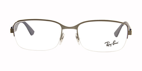 Ray Ban Rx - RX6311 Gray Semi-Rimless Unisex Eyeglasses - 55mm